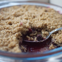 Summer Berry Apple Crumble