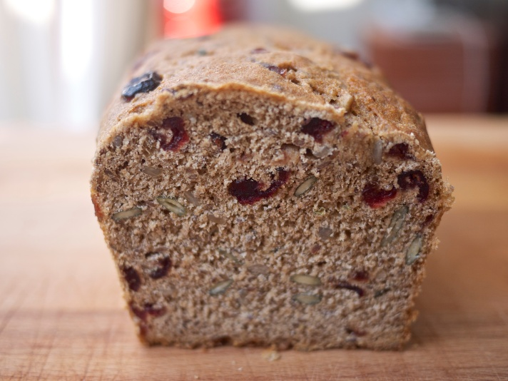 Seed and Berry Honey Whole Wheat Bread from Kiwi and Peach