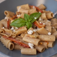 Creamy Goat Cheese Pasta with Sun-dried Tomatoes