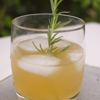 Rosemary and Maple Bourbon Lemonade