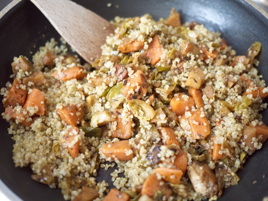 Quinoa Fall Skillet from Kiwi and Peach
