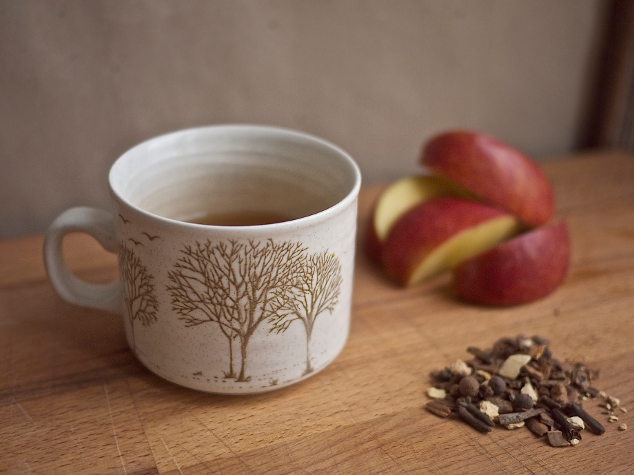 Hot Caramel Apple Cider from Kiwi and Peach {recipe}