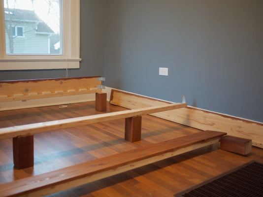 Build your own king slat bed for 150 kiwi peach for How to make your own platform bed