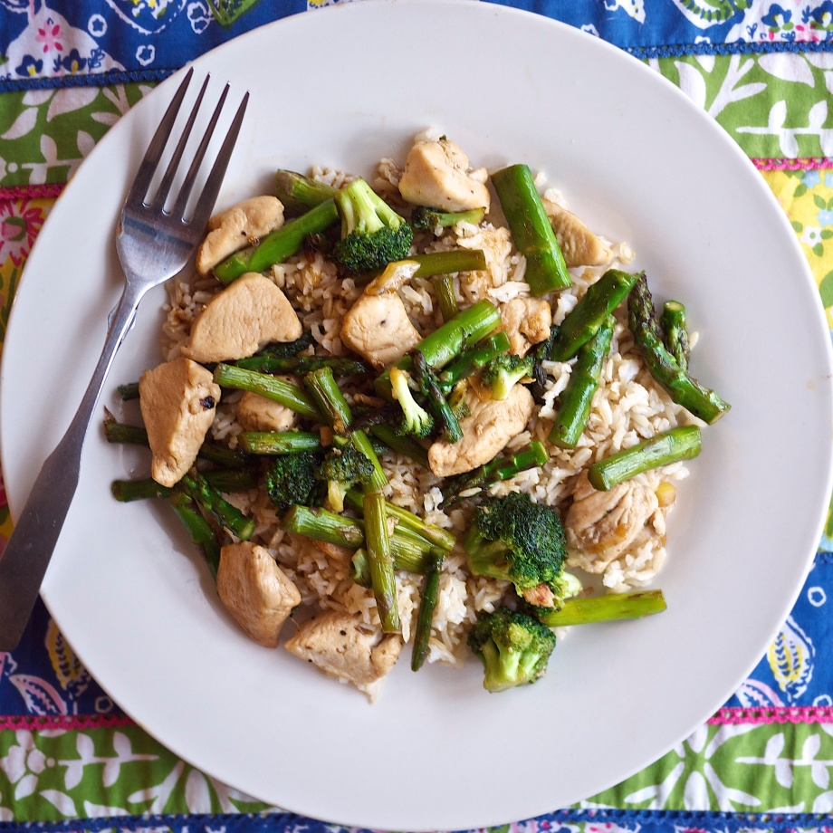 Lemony Chicken Rice with Spring Vegetables