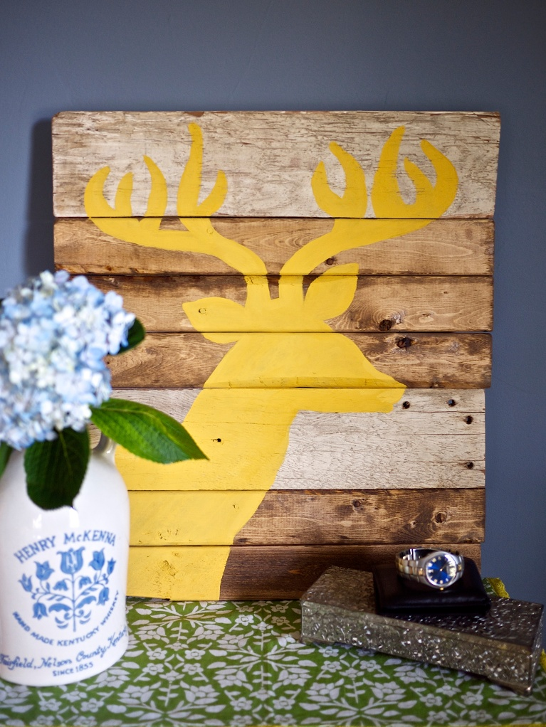 Rustic Stag Silhouette Wall Art Tutorial