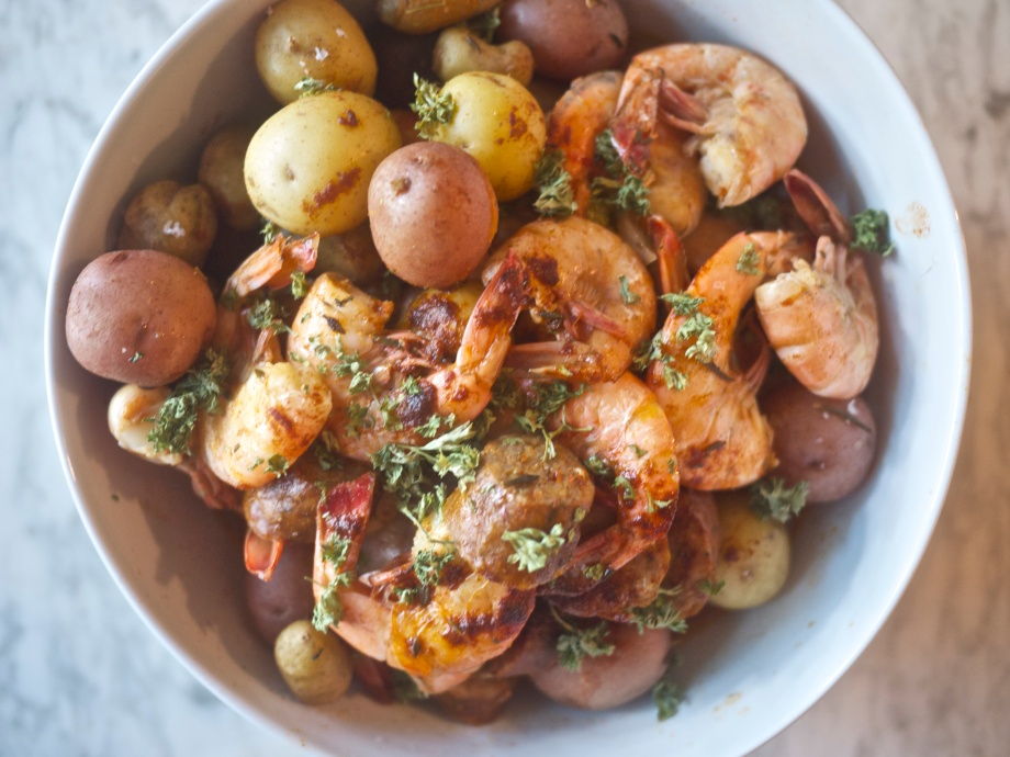 Kiwi and Peach: Low Country Boil